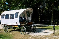 Wagon in a farm royalty free stock photography