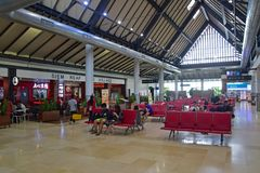 Interior design of Siem Reap Angkor International Airport stock image
