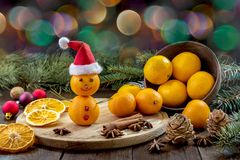 Image with tangerines. Royalty Free Stock Photography