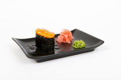Image of tasty creamy nigiri Royalty Free Stock Images