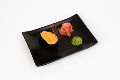 Image of tasty creamy nigiri Royalty Free Stock Photo