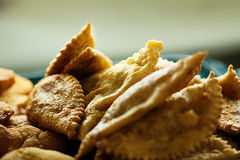 Image of tasty fried meat pasties, close-up Stock Photos