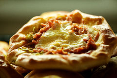 Image of tasty homemade pizza, close-up Stock Photo