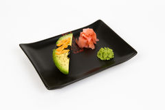 Image of tasty nigiri with avokado Stock Images