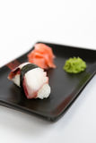 Image of tasty nigiri with octopus Stock Image
