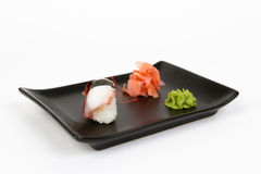 Image of tasty nigiri with octopus Royalty Free Stock Photo