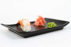 Image of tasty nigiri with shrimp Royalty Free Stock Image