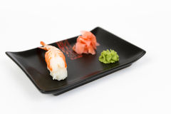 Image of tasty nigiri with shrimp Stock Photos