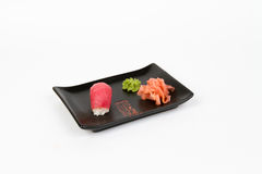 Image of tasty nigiri with tuna Stock Photography