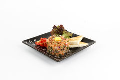 Image of tasty tartare with salmon Royalty Free Stock Images