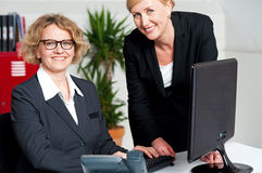 Image of teamwork in the office Stock Image