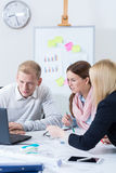Image of teamwork at office Stock Images