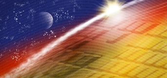 image of technological, cosmic landscape Royalty Free Stock Images