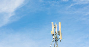 image of Tele-radio tower with blue sky Stock Photo
