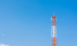 image of Tele-radio tower with blue sky Royalty Free Stock Images