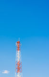 image of Tele-radio tower with blue sky Royalty Free Stock Image