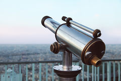 Image of telescope overlooking for city Stock Image