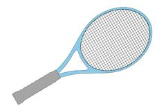 Image of tennis racket Stock Photos