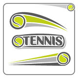The image on the tennis theme Stock Photo