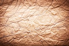 Image texture of crumpled brown paper Royalty Free Stock Images