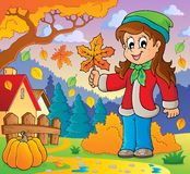 Image thématique 8 d'automne Image libre de droits