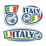The image on the theme of Italian football Stock Images