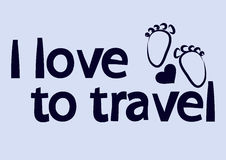 Image on the theme of love for travel Royalty Free Stock Photo