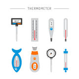 Image thermometer icons Royalty Free Stock Images