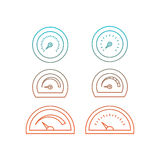 Image thermometer icons Royalty Free Stock Image