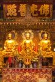 Image of three buddha. In Dragon Temple Kammalawat Bangkok Thailand Stock Photos