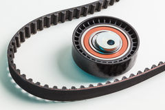Image of timing belt with rollers Royalty Free Stock Image
