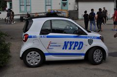 Tiny NYPD Police Car Royalty Free Stock Image