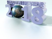 Happy New Year 2018 World Violet Stock Image