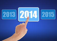 Into 2014. Image to use in an optimistic view on year 2014. Can be also used for review of the year 2014 Stock Image