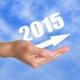 Into 2015. Image to use in an optimistic view on year 2015. Can be also used for review of the year 2015 Stock Photo