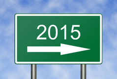 Into 2015. Image to use in an optimistic view on year 2015. Can be also used for review of the year 2015 Royalty Free Stock Image