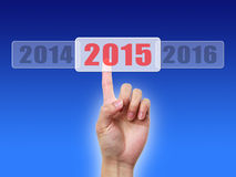 Into 2015. Image to use in an optimistic view on year 2015. Can be also used for review of the year 2015 Stock Images