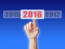 Into 2016. Image to use in an optimistic view on year 2016. Can be also used for review of the year 2016 Stock Images