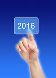 Into 2016. Image to use in an optimistic view on year 2016. Can be also used for review of the year 2016 Stock Image