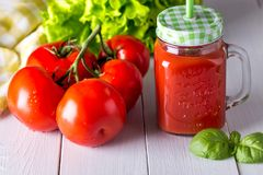 Image with tomato juice. Royalty Free Stock Image