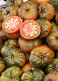 Tomatoes backgroud. Image of tomatoes at street market Royalty Free Stock Images