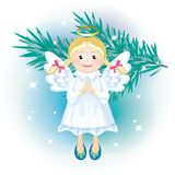 Image of toy hanging Christmas angel Stock Images
