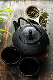 Image of traditional eastern teapot and teacups Stock Photos