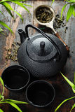 Image of traditional eastern teapot and teacups Stock Photography