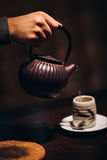 Image of traditional eastern teapot teacups on Royalty Free Stock Images