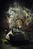 Image of traditional eastern teapot Stock Photos