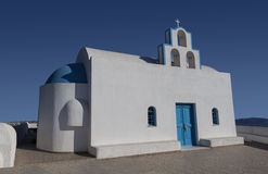 White church on Santorini Stock Photo
