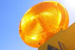 Traffic Barricade lamp. The image of Traffic Barricade lamp stock photos