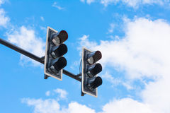 Image of traffic light, the light is fail. symbolic  for error Stock Photography