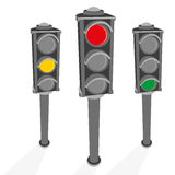 The image of the traffic light. Vector illustration. Stock Photo